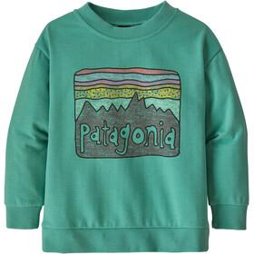 Patagonia Lightweight Crew Sweatshirt Kids fitz roy skies/light beryl green